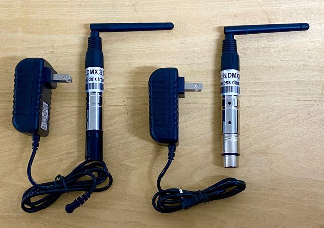 バッテリー内蔵のワイヤレスDMX